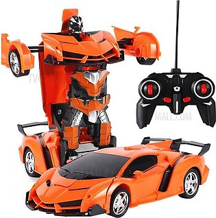 Transformer Chargable Remort Control Robot Car Toy For Kids