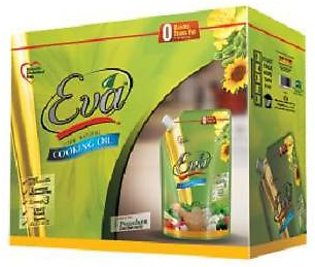 Eva Cooking Oil Stand up Pouch 1Ltr x 5