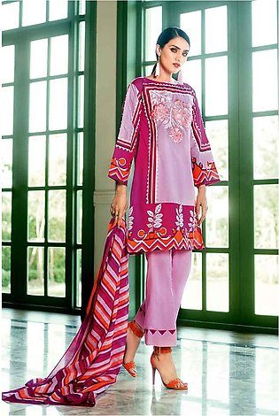 GA - GA - Gul Ahmed-Summer Collection 2019  L.Pink Lawn-3 PC Unstitched-CL-50...