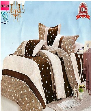 New Cotton Softy Foam Bedsheets With 2 Pillow Covers Scb-20 (R)