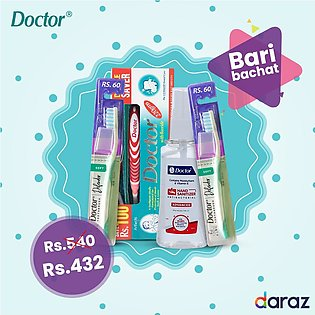 Discount Bundle (DOCTOR Hand Sanitizer , DOCTOR Double Big Saver Toothpaste &...