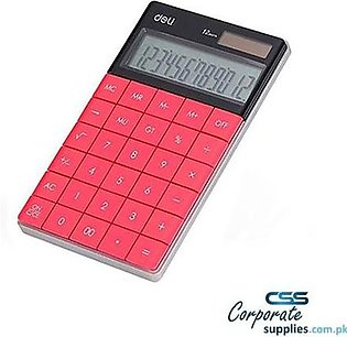 12-Digit Modern Calculator - 1589P - Pink