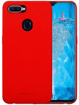 Oppo F9 Soft Back Cover-Red