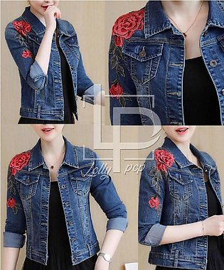 Perfect For Fit Denim Jacket For Ladies