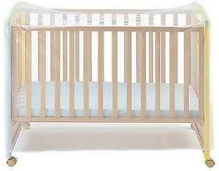 Polyester Fabric Light Breathable Decorative  Mosquito Net Baby Net Cover-white