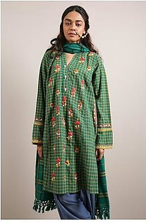 Generation-Stitched 2 - Piece Pre Fall Collection Polski 2-Pc Yarn dyed stripes/checks Traditional-C29185T-Green