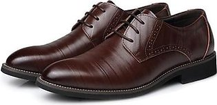 Men's Formal oxfords leather Shoes Fashion European style Casual/Dress Shoes brown