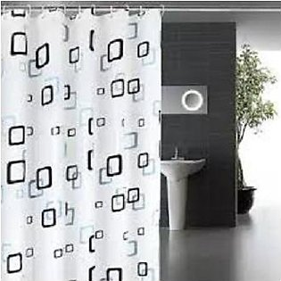 Waterproof Shower Curtain With 12 Rings For Bathroom Toilet