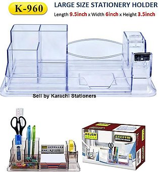 K-960 Crystal Glass Acrylic_Transparent Executive Style Deluxe Stationery Holde…