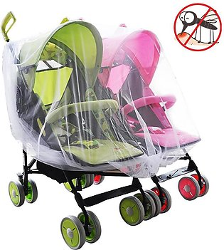 Twin Baby Stroller Mosquito Net Crib Cradle Breathable Mosquito Net