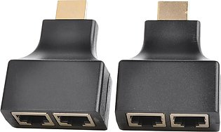 Practical Dual Cat5e/Cat6 Cables to RJ45 1080P 3D HDMI Extender (Pair)