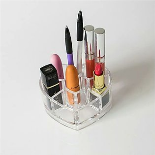 Heart Shaped Cosmetic Display Pen Cases Stand Box Makeup Organizers Storage Rac…