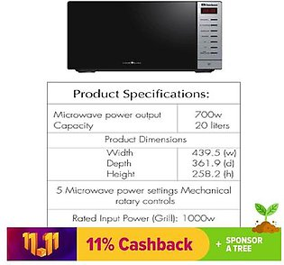 Dawlance Microwave Oven Cooking Series DW-297 GSS Cooking
