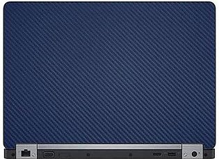 Universal Laptop Back Skin Carbon Fiber Texture - Blue