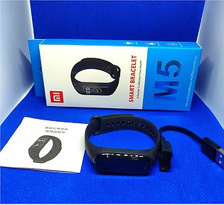 M5 Wireless Smart Band and Fitness Heart Rate Tracker Smart Watches for Ladie...