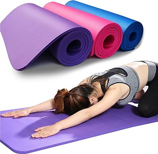 Gym Solution Yoga Mat Non-Slip Fitness 10mm With Shoulder Strap