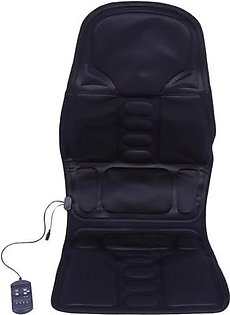 Electric Back Neck Massage Chair Seat Auto Car Home Office Full-Body Lumbar Massage Chair Relaxation Anti Stress Pad Seat Heat US