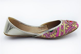 Milli Shoes - Pink Ladies Fancy Khussa - 7515