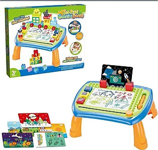 Kid Multi-Function Magnetic Drawing Board Table Toy Set DIY Painting Writing Ch…