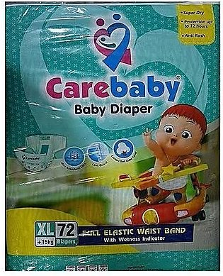 Care Baby Diapers X-Large Size - Pack of 72 Pcs