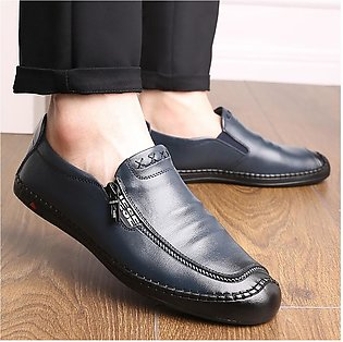 New Men Vintage Leather Shoes Outdoor Casual Lazy Shoes Summer Shoes Solid Shoes