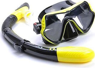 Yon Sub Yellow Professional Diving Mask Silicone Diving Goggles Men And Women Snorkel Swimming Goggles Adjustable Adult Underwater Glasse