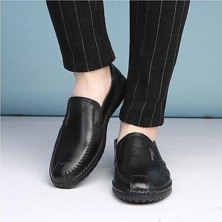 Men Leather Summer Solid Shoes