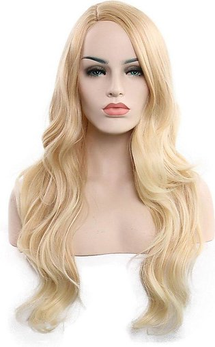 Long Curly Hair Natural Lifelike Fiber Wigs Straight Synthetic Hair