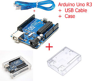 Arduino Uno R3 with Usb Cable with Case