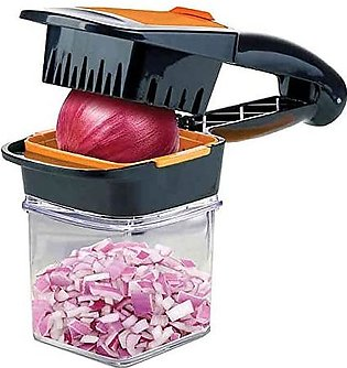 Nicer Dicer with Fresh keeping container Chops Slices Cubes Wedges Multi purp...