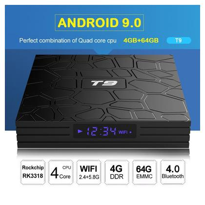 T9 (4GB-64GB) - Android 9.0 - Latest 2020 Model - Smart Android Tv Box