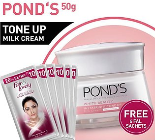 FREE 6 SACHETS OF FAIR AND LOVELY MULTIVITAMIN FACE WASH 4ML WITH POND'S TONE...