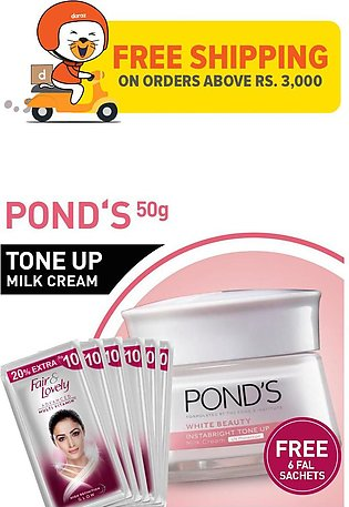 FREE 6 SACHETS OF FAIR AND LOVELY MULTIVITAMIN FACE WASH 4ML WITH POND'S TONE U…