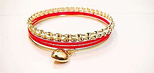 2 sets of bangles 5 Bangles in a set Set for girls with beautiful hanging gol...
