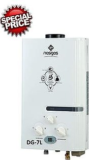 Nasgas DG-7L - Instant Gas Geyser - Super Model Dual Protection Device - 7 LITER
