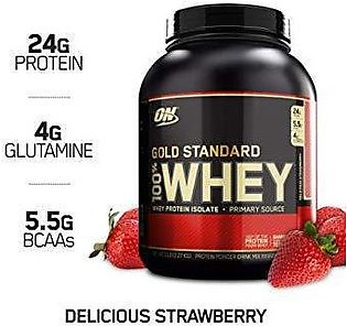 Gold Standard 100% Whey Protein - 5lbs - Delicious Strawberry