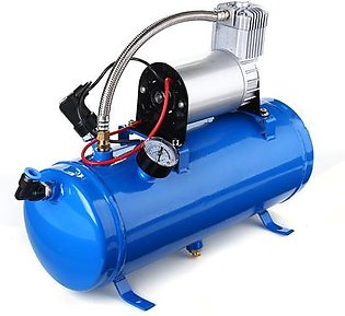 Dual Compact Train Air Horn with 150 PSI 6 Liter Air Compressor