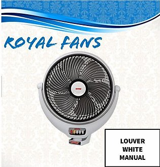 ROYAL FANS LOUVER BRACKET WHITE 14 INCHES