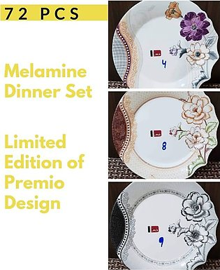 8 Person Serving Melamine Dinner Set 72 Pieces High Quality