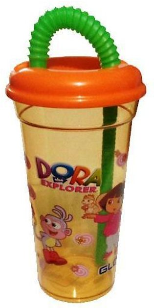 Beautiful Cartoon Straw Glass For Kids And Babies Drinking 1Pcs