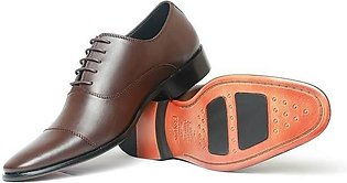 80-02 Coffee Color Leather Shoe For Men
