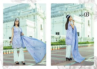 Silk Collection - 3pc Embroidered Silk Ladies Dress