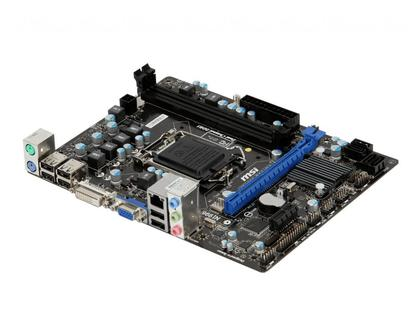MSI H61M-P31/G3 LGA 1155 Intel H61 Micro ATX Intel Motherboard with UEFI BIOS DDR3 Supported For 2nd and 3rd Generation Core i3 Core I5 Core i7 Processors (Refurbished)