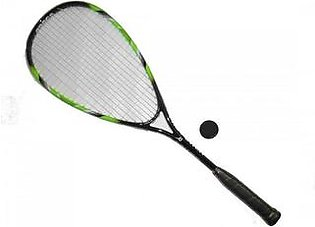 Combo Pack : Graphite Squash Racket with 1 Ball