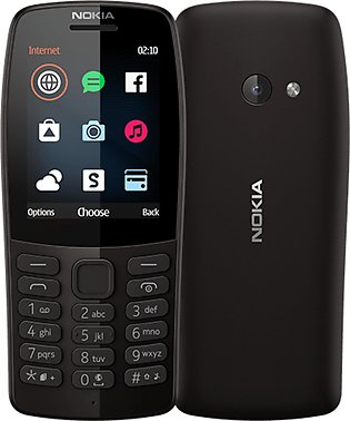 Nokia 210 - 2.4inch - 16MB RAM- Dual SIM -Camera with Flash - PTA Approved