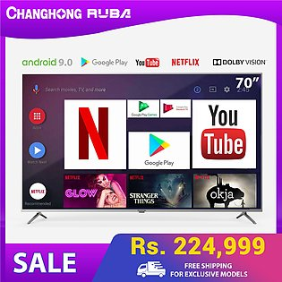 Changhong Ruba-70 inch 4K UHD Smart TV-Android 9.0-Voice search-Doiby vision/...