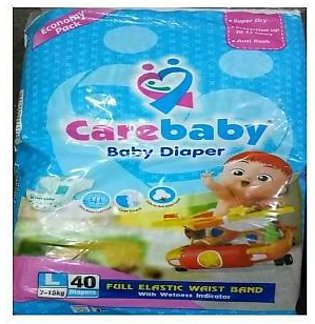 Carebaby baby Diapers Large Size - 40 Pieces