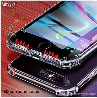 Huawei P30 Lite 6D Surround Sound Transparent Protective Cover Anti-knock Soft …