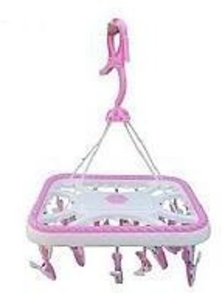 Baby Cloth Hanger With 20 Hangers - Pink & White