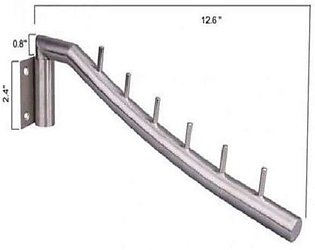 Stainless Steel Wall Cloth Hanger - Silver8 x Screws8 x Drywall Anchors